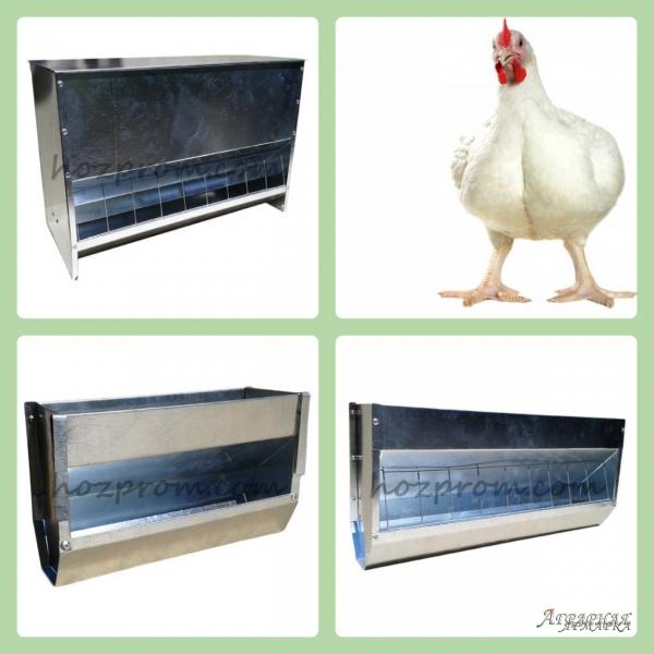 Бункерные кормушки металлические для птицы