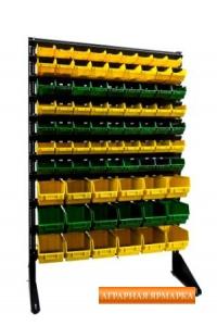 Стенд с пластиковыми контейнерами