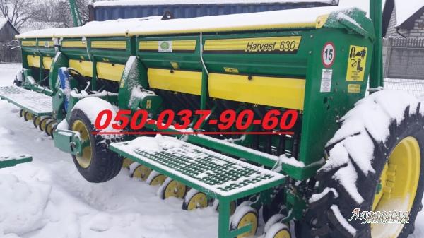 Зернова механічна сівалка Harvest 630(Harvest 540 + 17% економії = Harvest 630)  із захватом 6, 3м;  укомплектована 42 дводисков