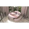 Круглая двуспальная кровать «Жемчужина»