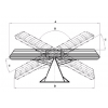 Передний складной отвал «Бабочка» AM V 2800